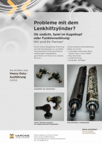 Flyer Varone Technik Dietikon, Revision und Reparatur von Hydralukzylindern, Presskontainernund Nutzfahrzeugen
